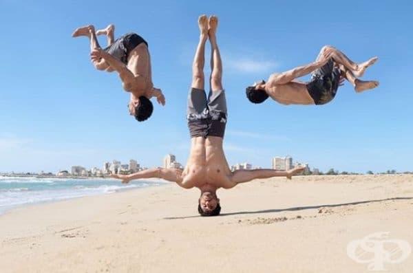 С подобни движения определено ще съберете погледите на плажа.