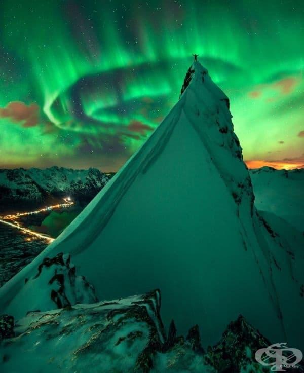 Северното сияние в Норвегия.