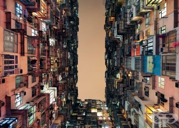 Жилищна сграда в Хонг Конг.