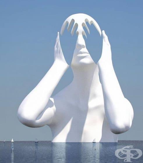 """""""Синьо"""". Смирението отразява процеса на медитация. Просто хванете вълната и се отпуснете ..."""