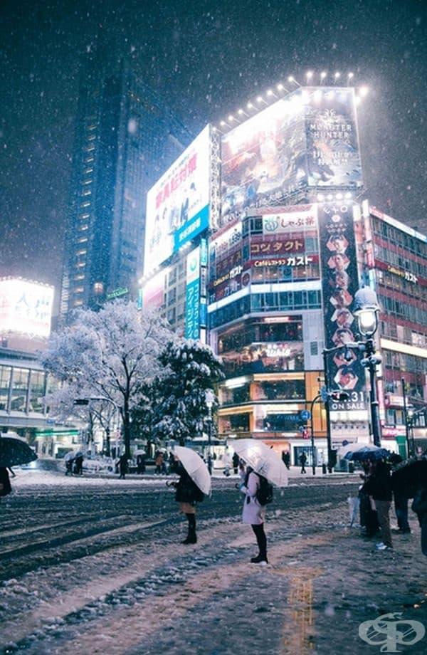 Сняг в Токио