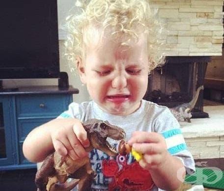 """""""Устата на Т-рекс не беше достатъчно голяма, за да захапе главата на човечето от Лего"""""""