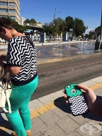 Това облекло и калъфчето за телефона са произведение на изкуството