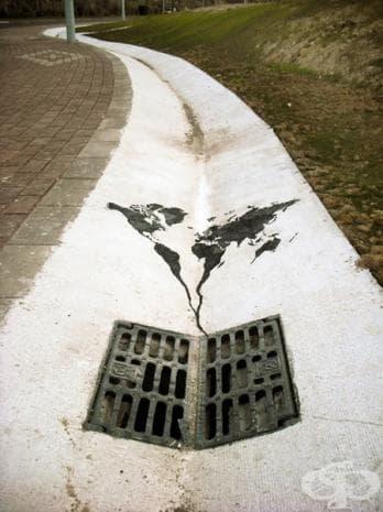 Светът се стича в канала, Испания