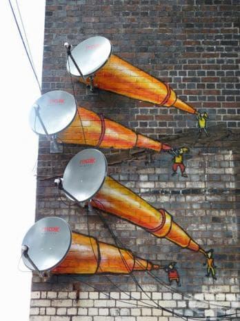 Сателитни чинии, Бирмингам, Великобритания