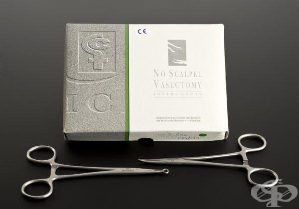 Комплект за извършване на вазектомия, ползван от 1997 до 2000 година