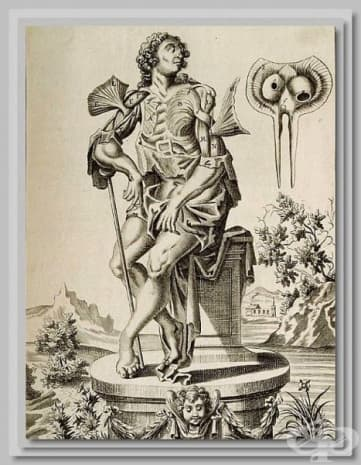 """Картината е част от """"Пълен тракат за мускулите, както изглеждат в тялото"""" от 1681 на Джон Браун."""