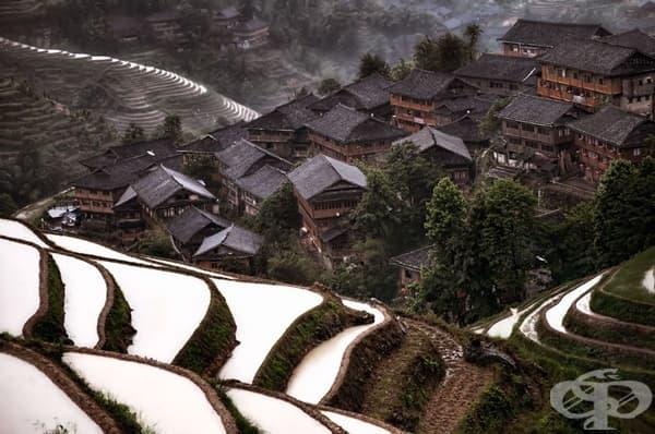 Планинско селище в Китай