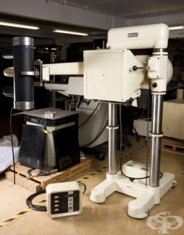 """Този апарат бил използван в клиника """"Ilford Chest Clinic"""" в Лондон."""