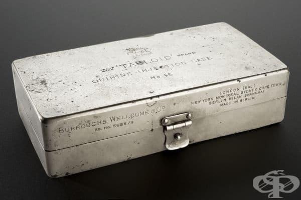Комплект за инжектиране на хинин от 19 век