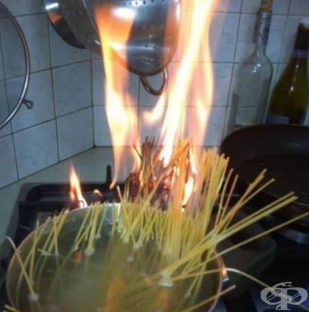 Огнени спагети...