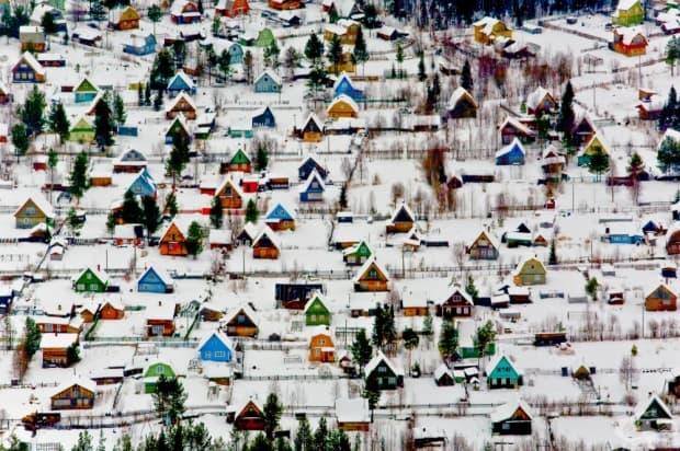 Селце близо до Ахангелск, Русия.