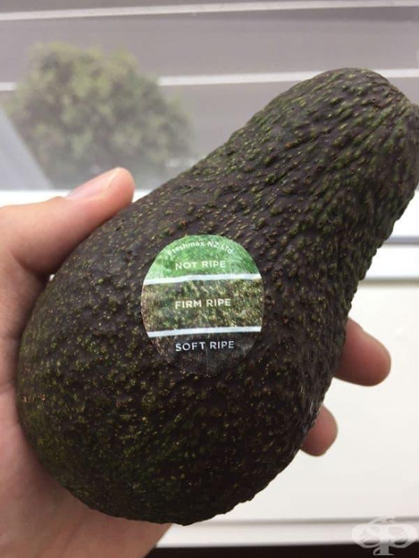Това авокадо разполага със специална скала върху стикера, която ви позволя да разберете кога е узряло.