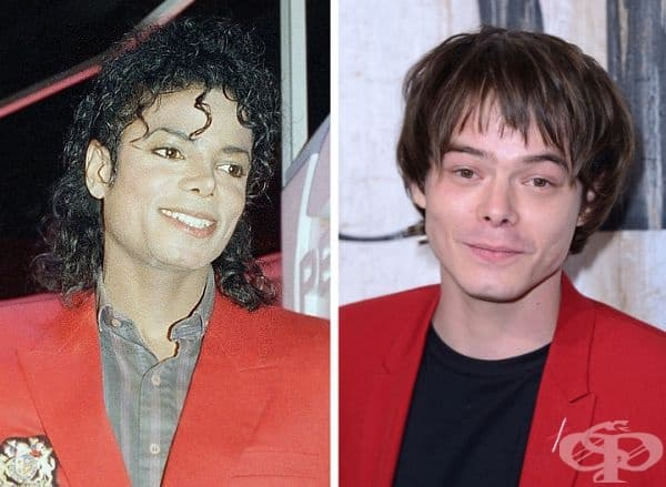Чарли Хийтън не ви ли прилича на майкъл Джексън, но с различна прическа?