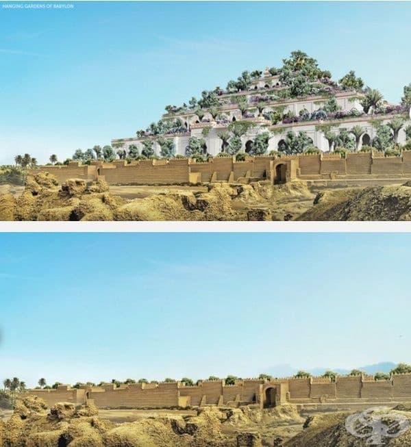 Висящи градини на Семирамида във Вавилон