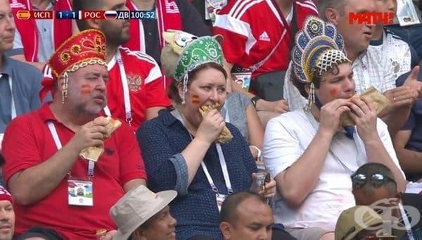 Тези фенове станаха известни след мача между Русия и Испания.