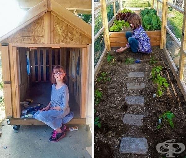 9-годишната Хейли Форд изработва домове за бездомни хора. Напоследък тя започна да отглежда зеленчуци и плодове, които да дава на нуждаещите се.