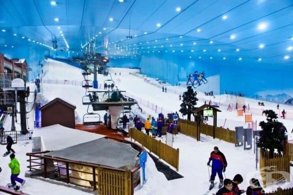 Или карайте ски в най-големия мол в света, когато навън е повече от 50°C.
