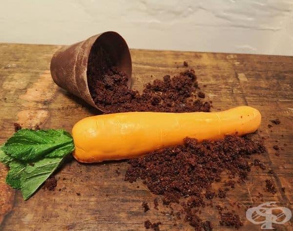 Торта-морков в саксия.