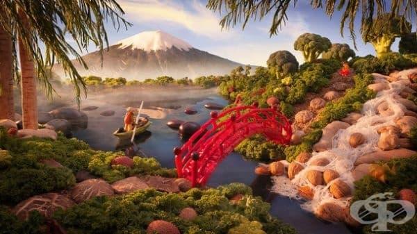 Вулканът Фуджи.