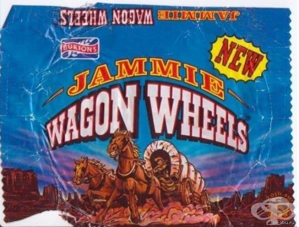 Рекламата за бисквитки Wagon Wheels е била една от любимите на децата.