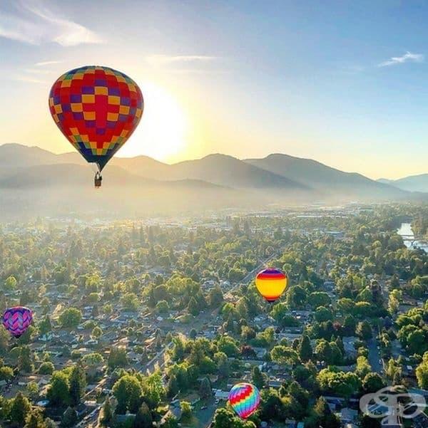 Балони над града.