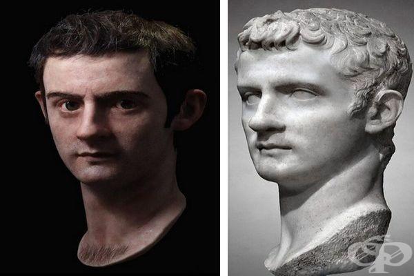 Образът на римския император Калигула оживява в ръцете на италиански скулптор - изображение