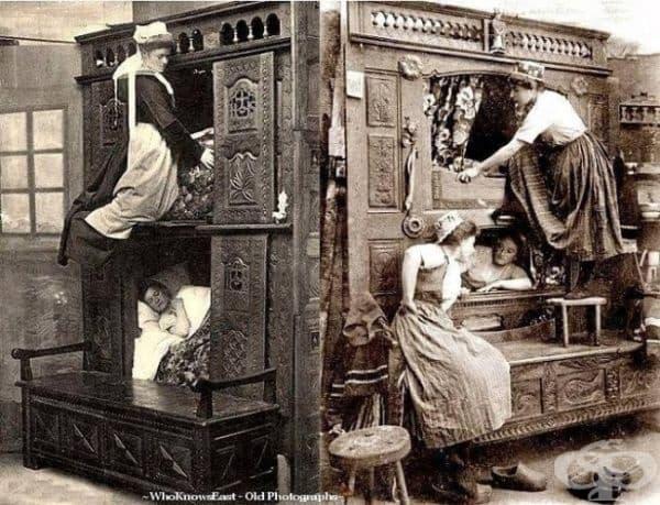 Спалня за камериерки, Англия, 1843г.