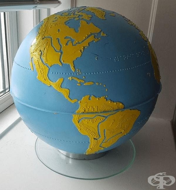 Глобус за незрящи хора.
