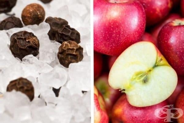 Сол, пипер и ябълки. Нарежете ябълката и поръсете със сол и пипер. Въпреки че не е канела, вкусът ще ви изненада.