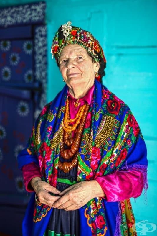 Възрастна жена от Русия.
