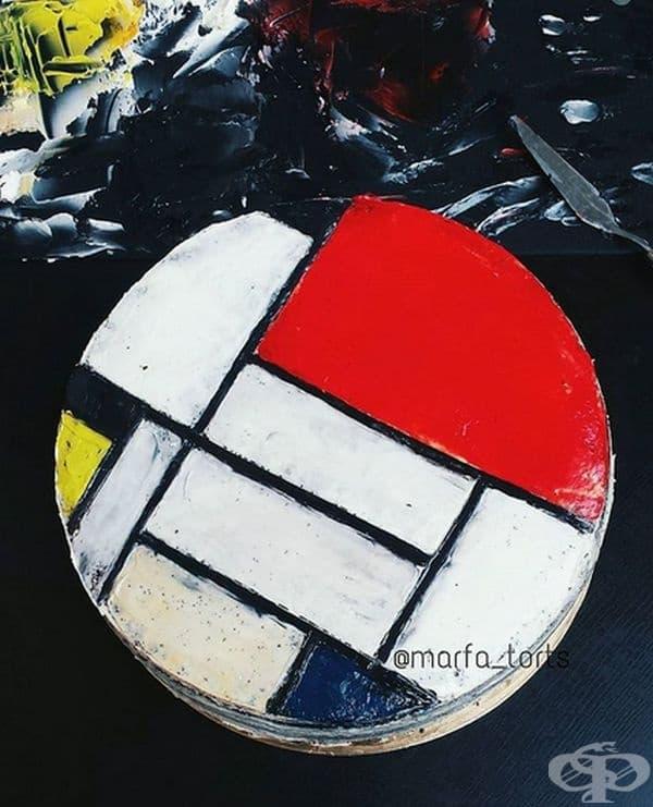 "Пиет Мондриан, ""Композиция в червено, синьо и жълто"""