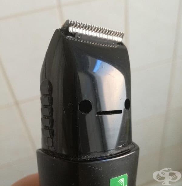 Машинката за подстригване прилича на човек, който преди малко е бил на фризьор.
