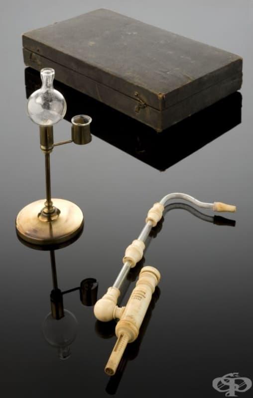 Апарат за третиране на туберкулоза с йод от 1800 година
