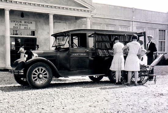Мобилна библиотека в щата Орегон, 1926 г.