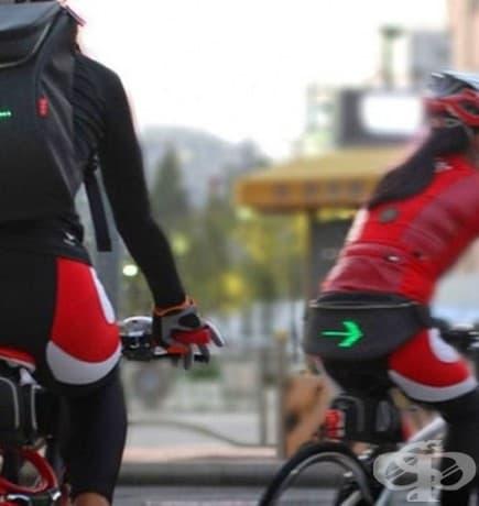 Велосипедистка раница, която има вграден дисплей