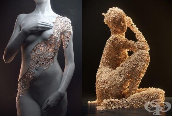 Жан-Мишел Бихрел удивява интернет пространството със своите необикновени скулптури на жени от цветя. Те са изключително креативни и нереално красиви, нали?