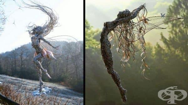 Робин Уайт знае как да работи с тел и да създаде страхотни скулптури от нея. Неговите творби изглеждат така, сякаш всеки момент могат да се отделят от земята и да отлетят, издухани от вятъра.