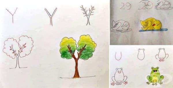 Научете детето си да рисува с помощта на цифри и букви