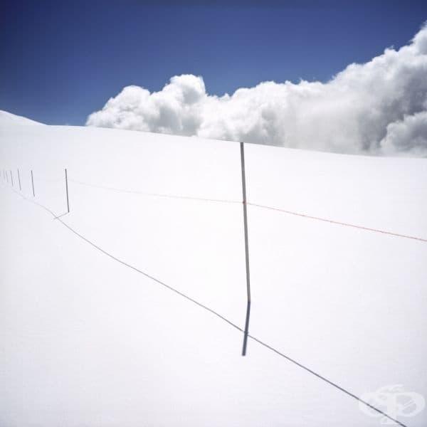 Бялата граница между Италия и Швейцария.