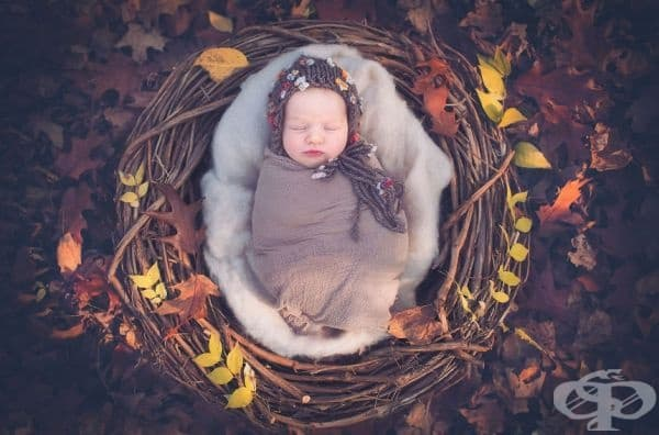 Снимки на сладки бебета в ръчно изработени мандали