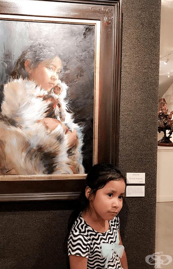 """""""Според мен дъщеря ми много прилича на момичето от картината."""""""