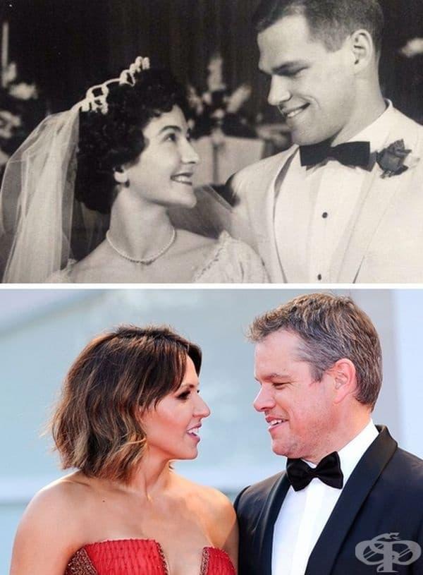 """""""Сватбата на родителите ми през 1961. Татко изглежда точно като Мат Деймън."""""""
