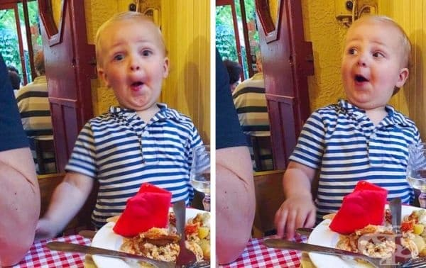 """""""Моят 2-годишен син преиграва по време на вечеря."""""""