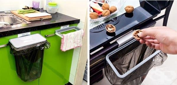 Приспособление, което може да използвате, когато готвите и там, където ви е необходимо. Накрая изхвърляте боклука и приберате поставката.