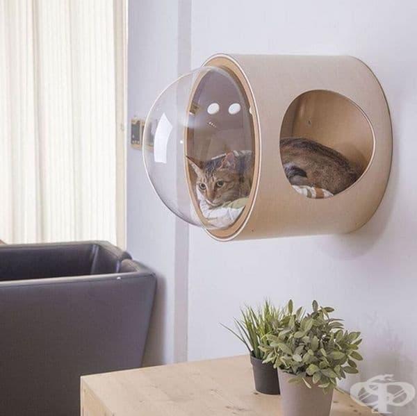 Легло за котка във формата на космически кораб от MYZOO.