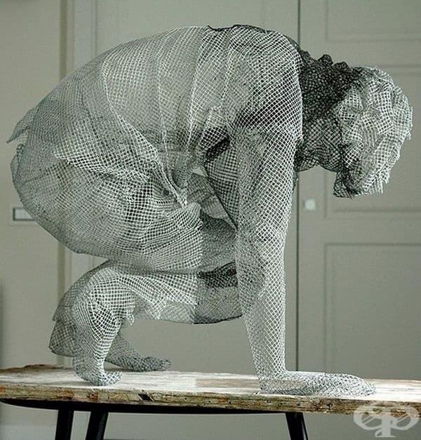 Скулптура от телени мрежи от Едоардо Тресолди.