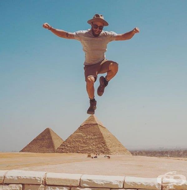 Явно пирамидите са се оказали малки за този човек.