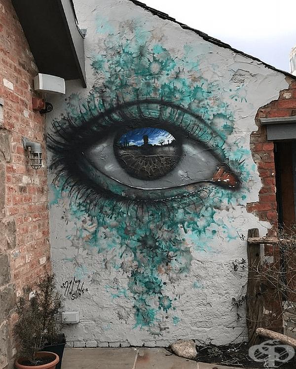 Street Art в Ланкашир, Великобритания.