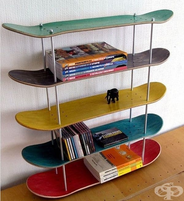 Скейтбордовете са добро попълнение към рафтовете в дома или гаража.
